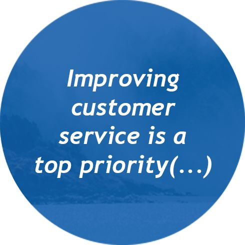 Improving customer service is a top priority