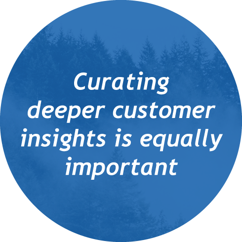 Curating deeper customer insights is equally important