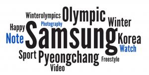 Olympics partners word cloud Samsung