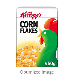 Optimizing hero ecommerce product images: Kellogs example
