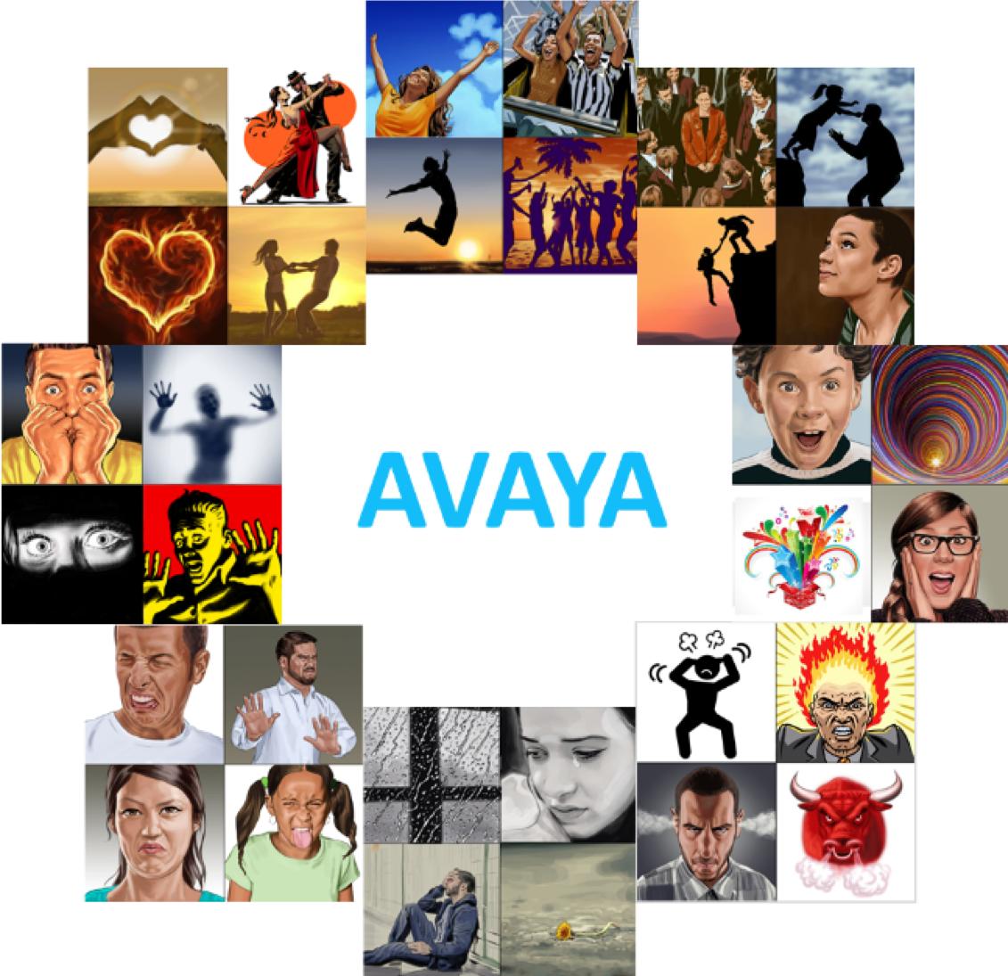 AVAYA image - 8 emotional domains