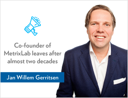 Press release: Co-founder of MetrixLab, Jan Willem Gerritsen, leaves after almost two decades