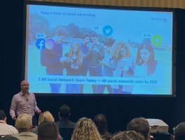 Adam Lee presenting at the TMRE 2019 in Las Vegas