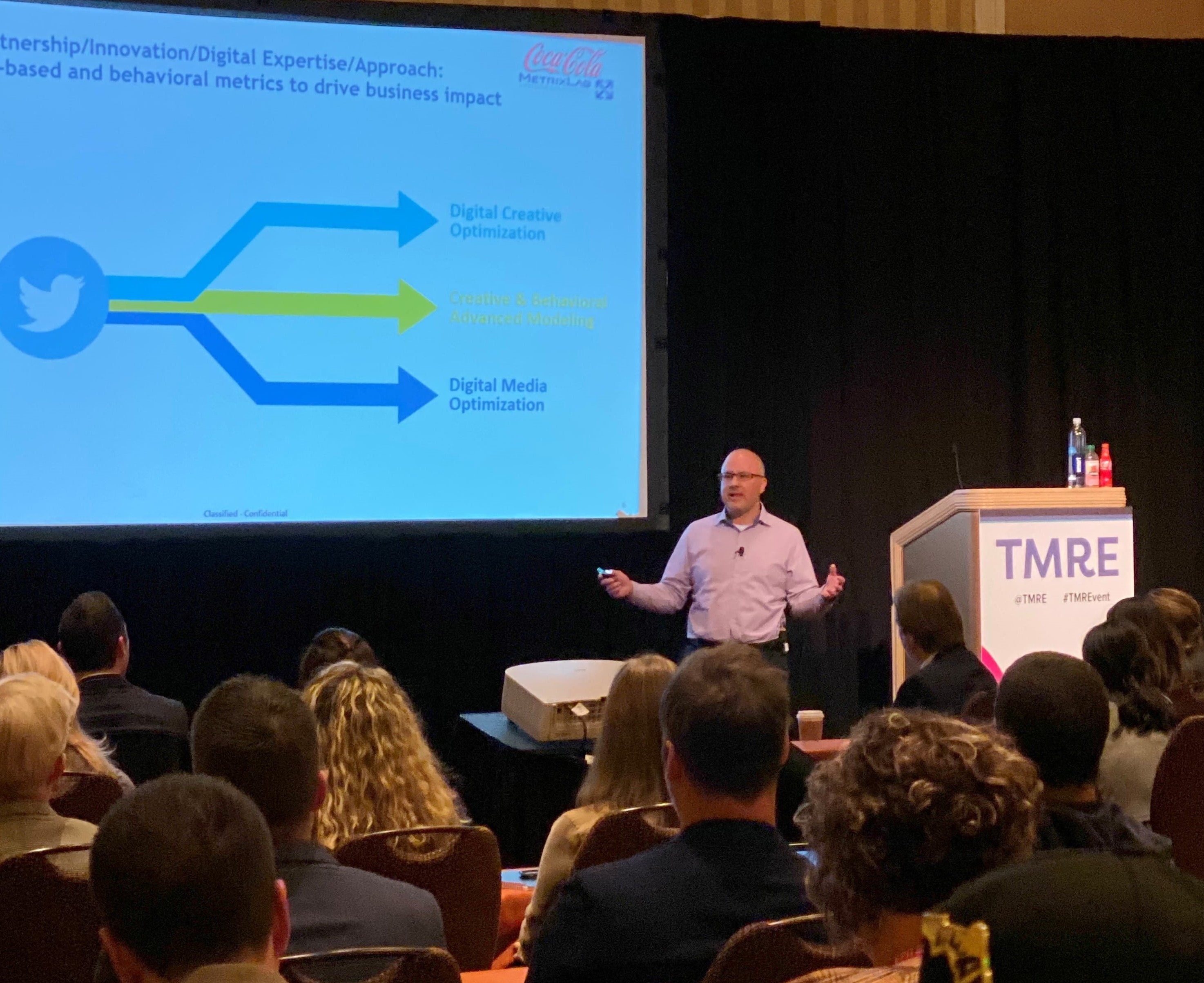 Adam Lee presenting at TMRE 2019 in Las Vegas