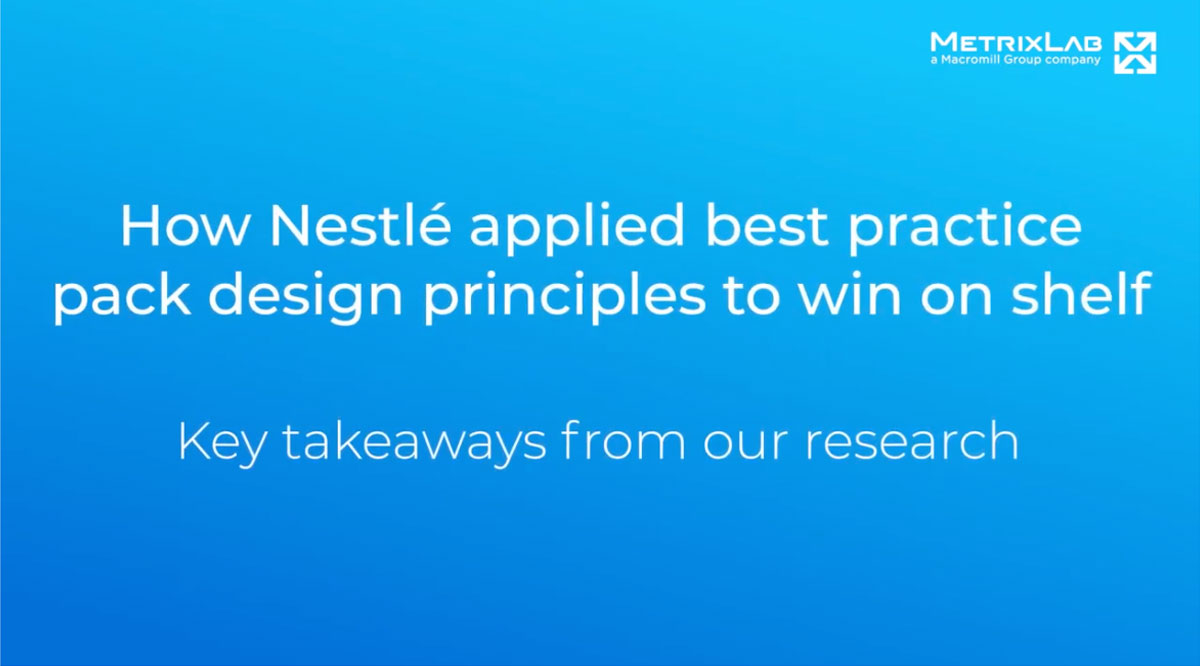 How Nestlé applied best practice pack design principles to win on shelf, key takeaways from our research