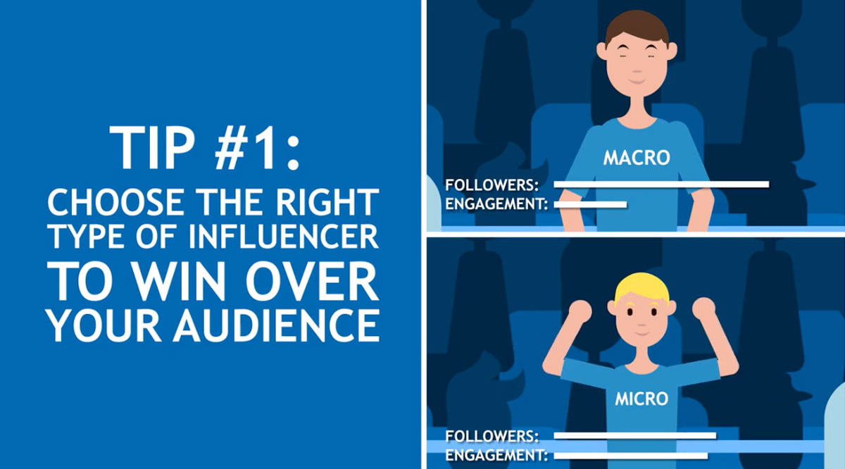 Choose the right type of influencer to win over your audience