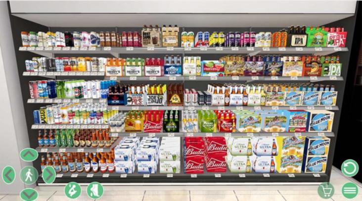 3D Virtual shelf
