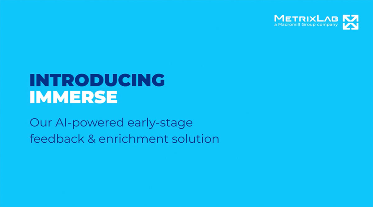 Introducing Immerse, our AI-powered early-stage feedback & enrichment solution