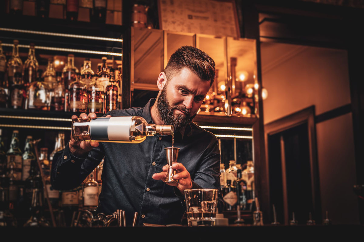 Barman preparing a coctail