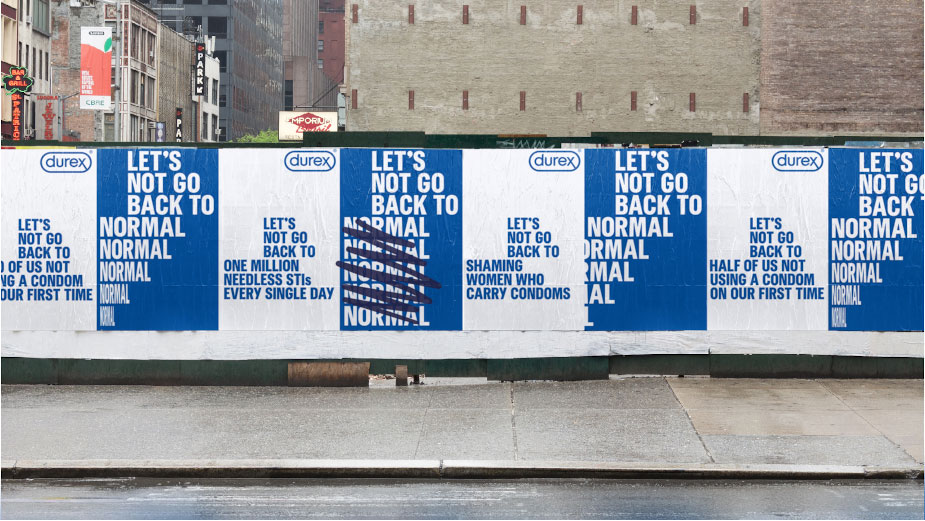 Durex let's not go back to normal post-lockdown ad campaign