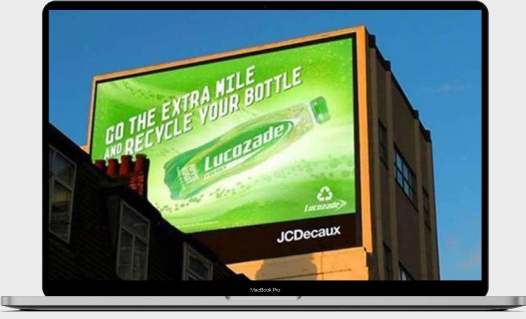 Recycle your bottle, Lucozade