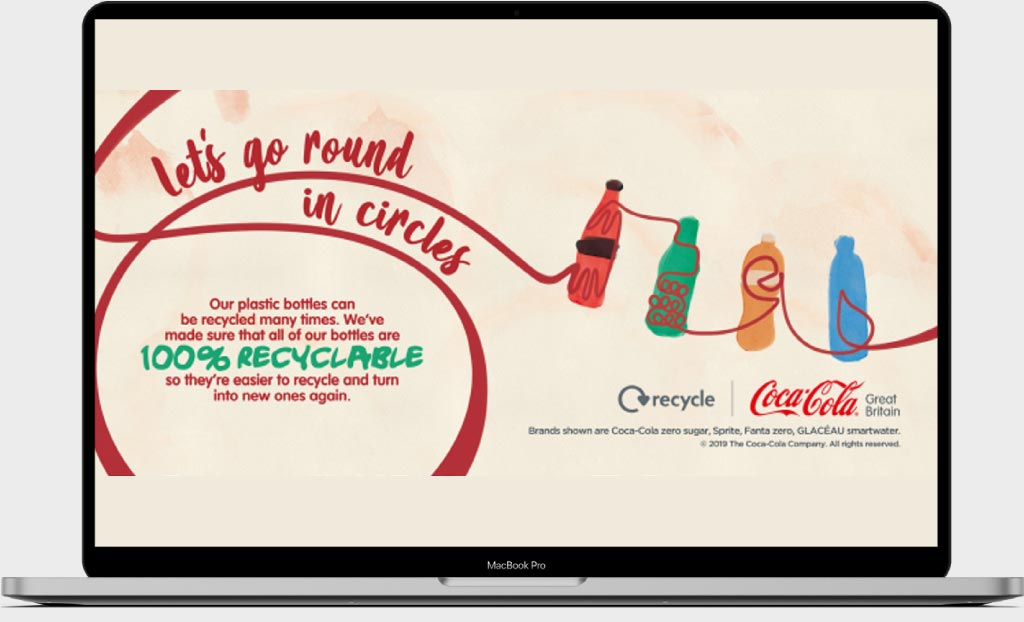 Recycle your bottle, Coca-Cola