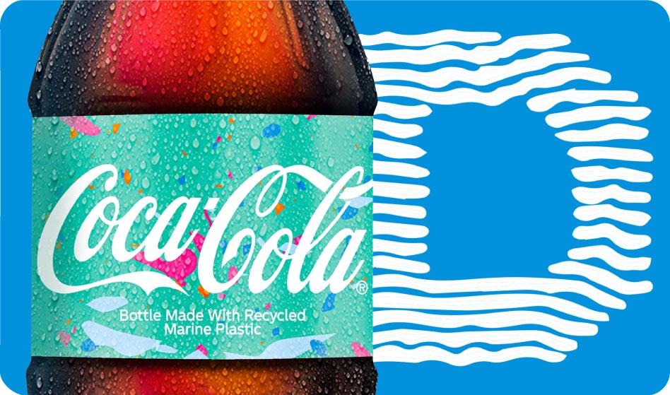 Recycled marine plastic bottle form Coca-Cola