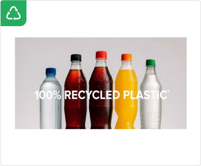 100% Recycled plastic bottles