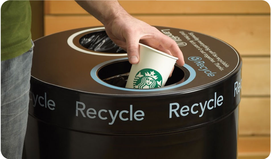 recycle coffee cup